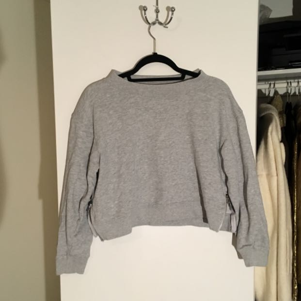 Cheap Monday Side Zip Crop Sweatshirt