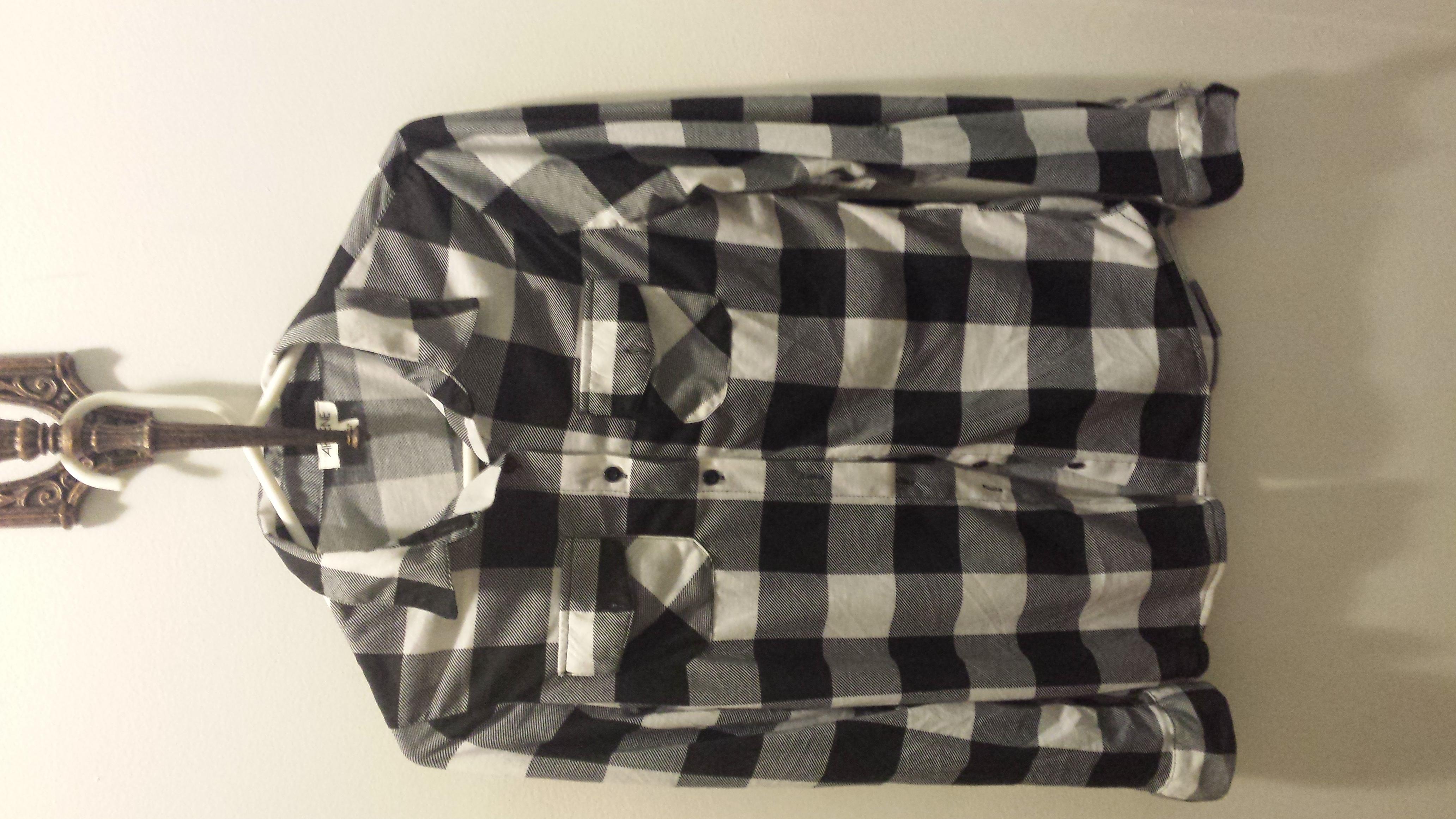 Checkered Blouse B&W
