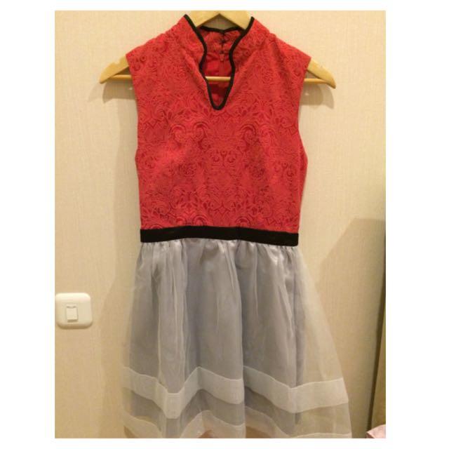 Cheongsam Tulle Dress