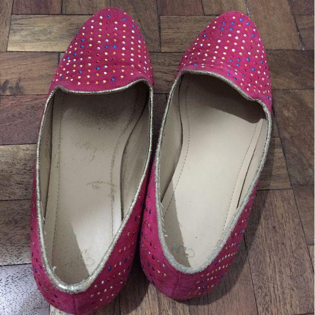 CLN Pink Ballet Flats