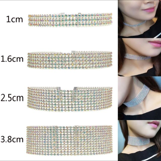 Crystal Chokers 4 Sizes