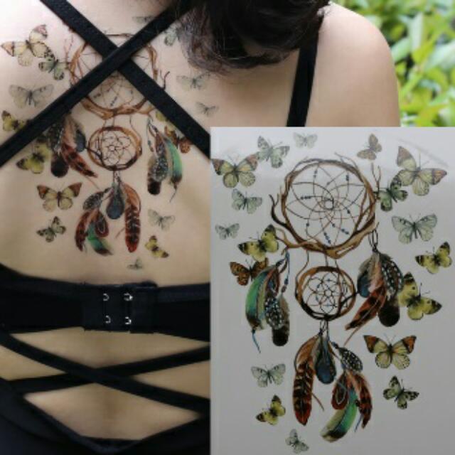 Dreamcatcher And Butterflies Tattoo