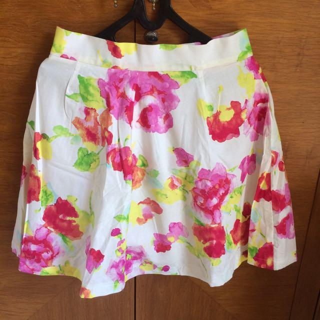 Flare Flowery Skirt