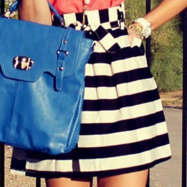 Flare Stripe Skirt