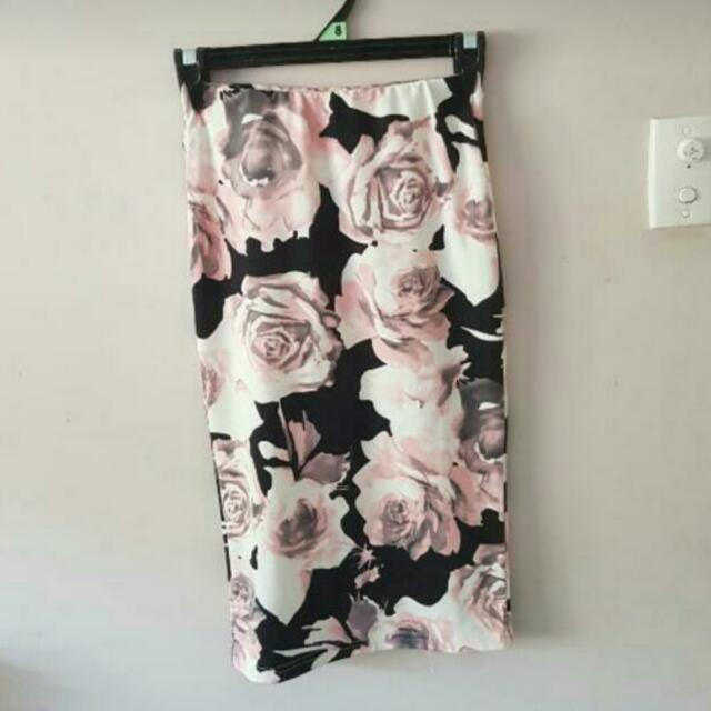 Floral Skirt Size 8