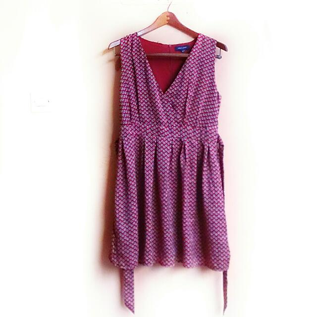 Free ONGKIR! Burgundy Front Dress