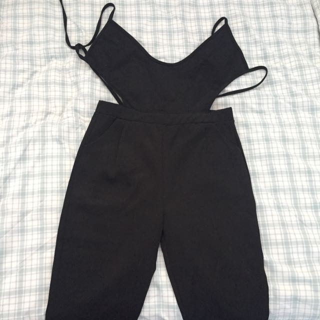 G6 Brand Black Jumpsuit With Tie Back