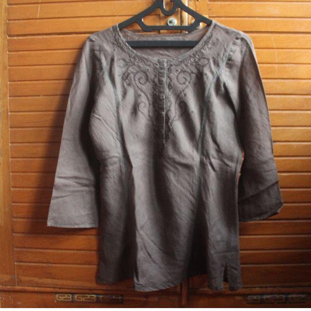Greenish Pattern blouse