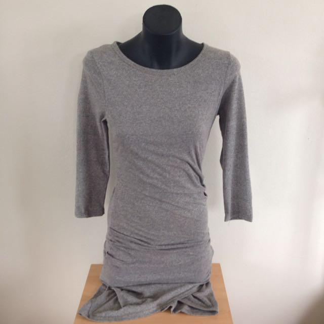 Grey Bodycon Split Dress