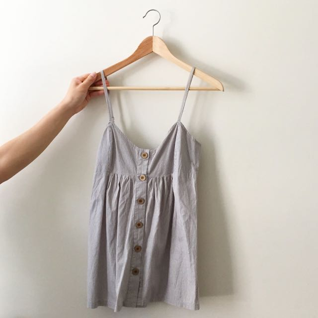 Grey/white Baby Top