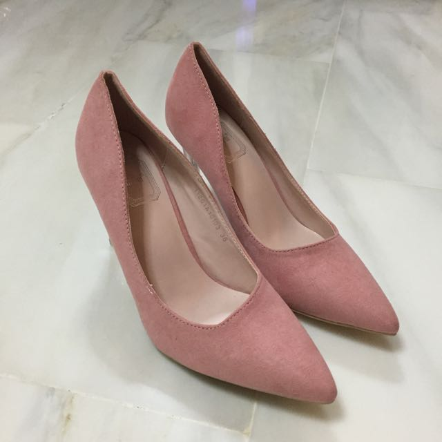 928e011060f4 INSTOCK EU36) Pointy Heels In Blush Pink