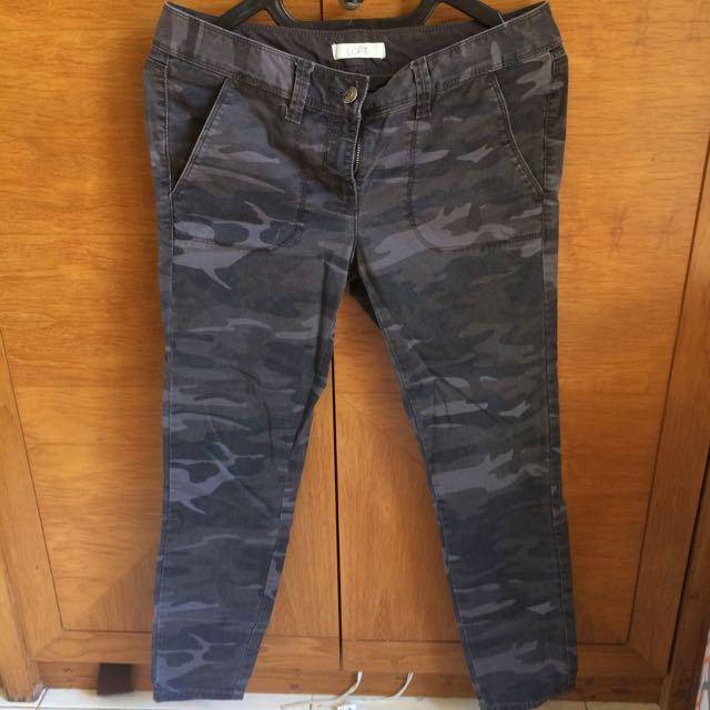 LOFT - Army Skinny Pants