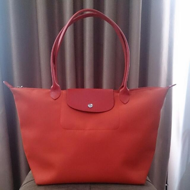 Longchamp Red Le Pliage