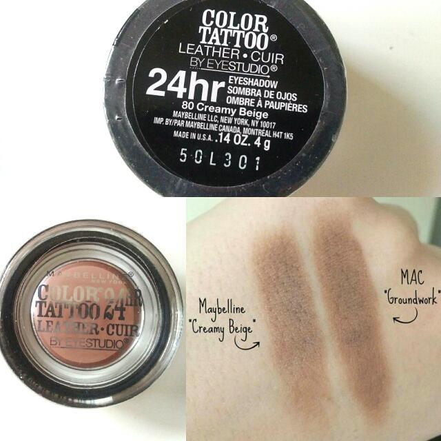 Maybelline Color Tattoo Eye Shadow #Creamy Beige