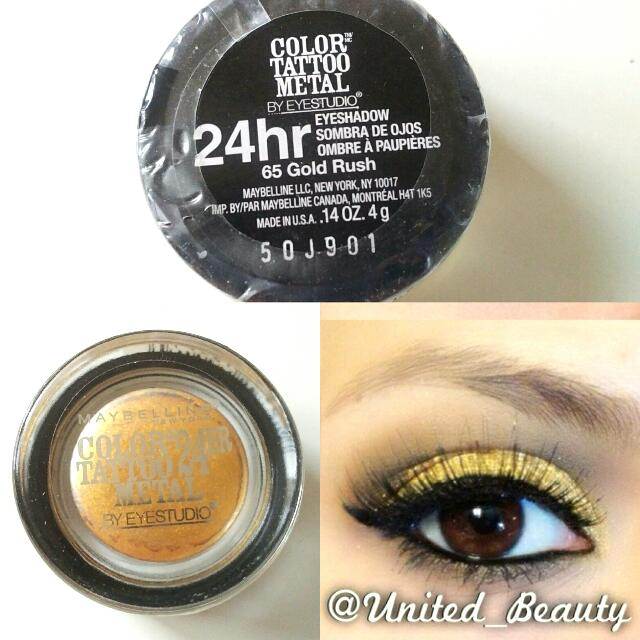 Maybelline Color Tattoo Eyeshadow #Gold Rush