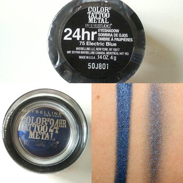 Maybelline Colour Tattoo Eyeshadow #Electric Blue