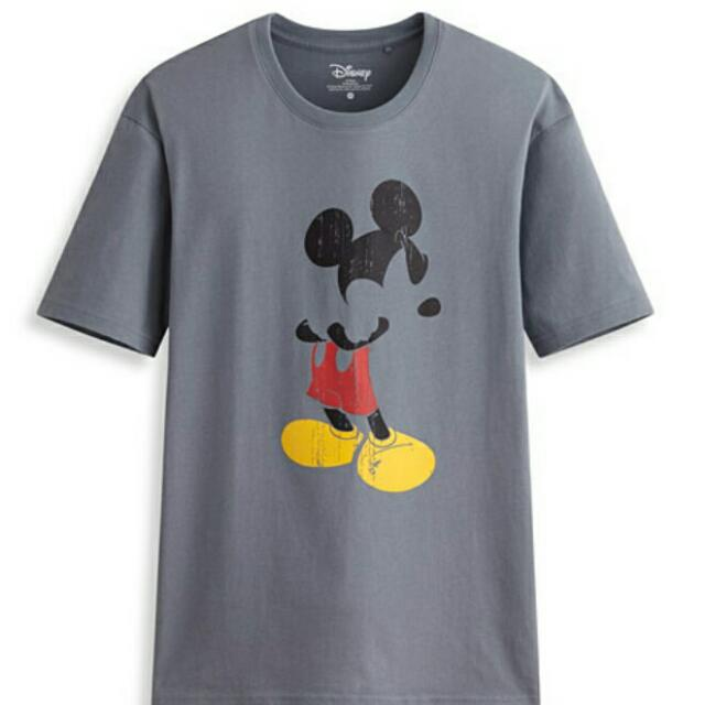 Mickey Shirt For Men.Color Gray OnlySize Xxl Only
