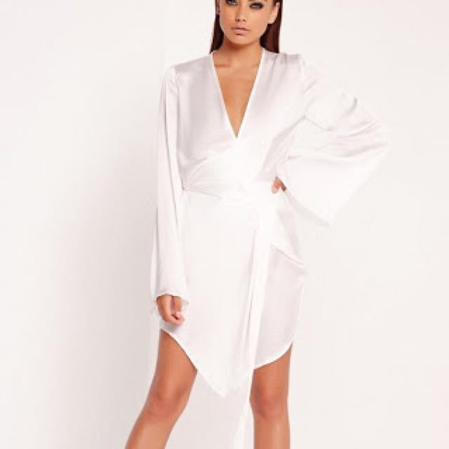 Missguided Kimono Wrap Dress Size 8