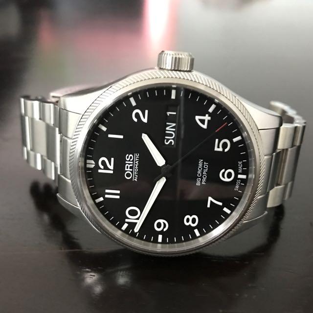 8c58b6cbf2ed Oris Big Crown Propilot Day Date Automatic In Bracelet