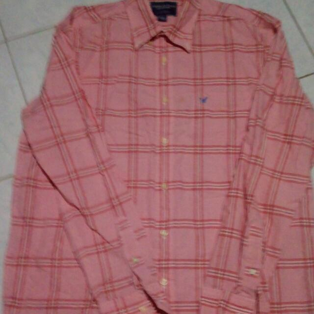 Orange Pink Plaid By American Eagle