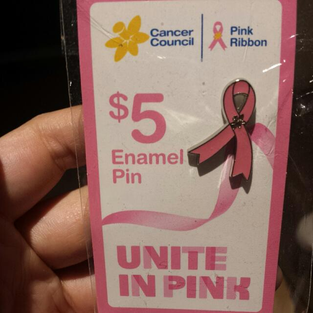 Free* Pink Ribbon Enamel Pin