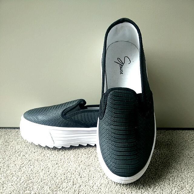 Platform Slip-Ons (Size 8)