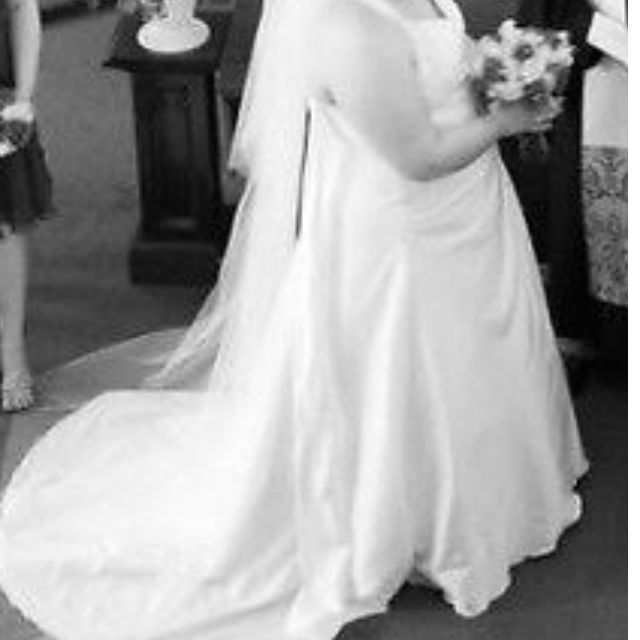 Plus size Stunning old hollywood style wedding gown