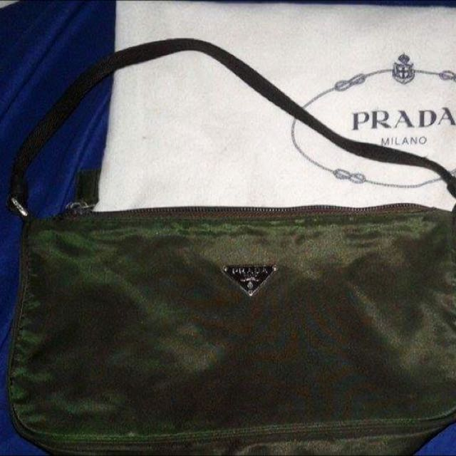 Prada Tisutto Nylon Small Handbag
