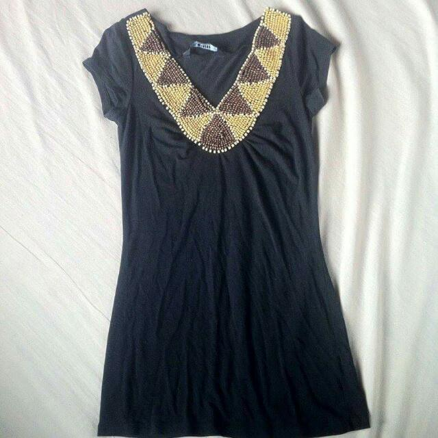 Repriced! Preloved Girl Express Black Above The Knee Top