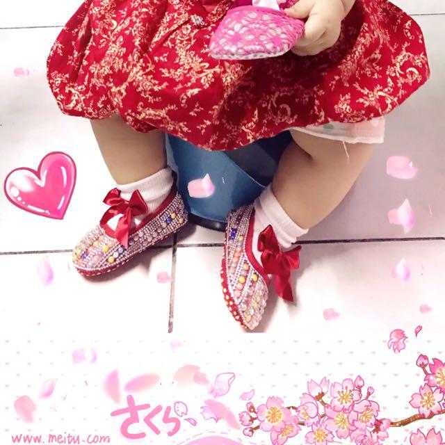 Preloved Prewalker Babyshoes Sincia Red
