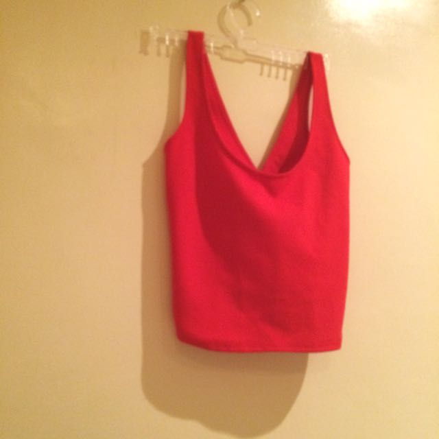 Red Crop Top / Sexy Back