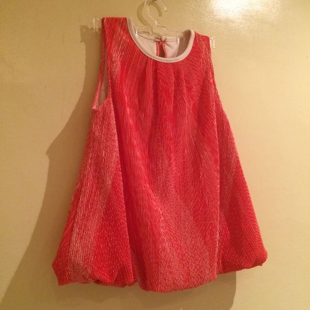 Red Orange Sleveless Top