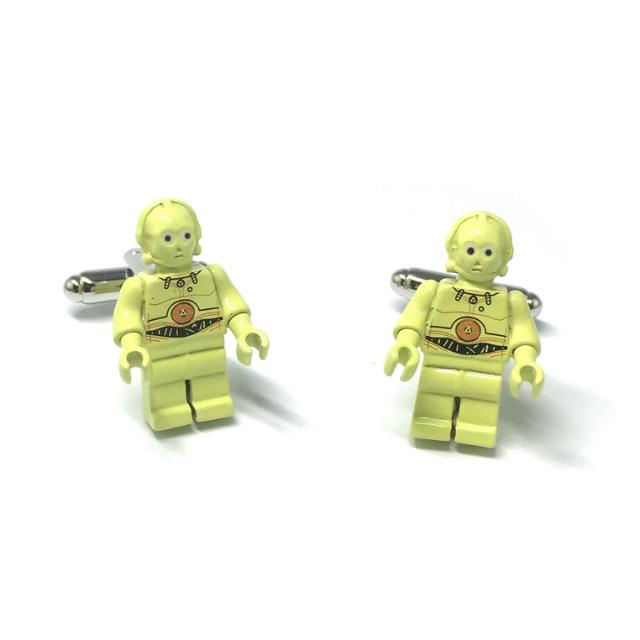 Star Wars Metal Lego Figurine C3PO Cufflinks