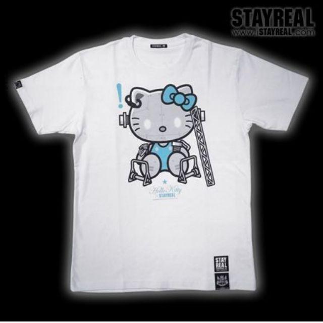 絕版STAYREAL超合金凱蒂 7colorsT恤!天空Kitty M號