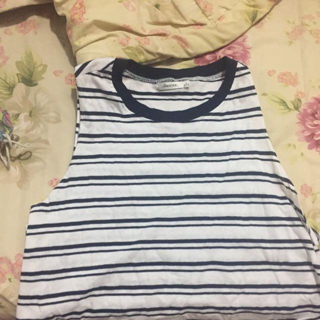 Striped Bershka Top