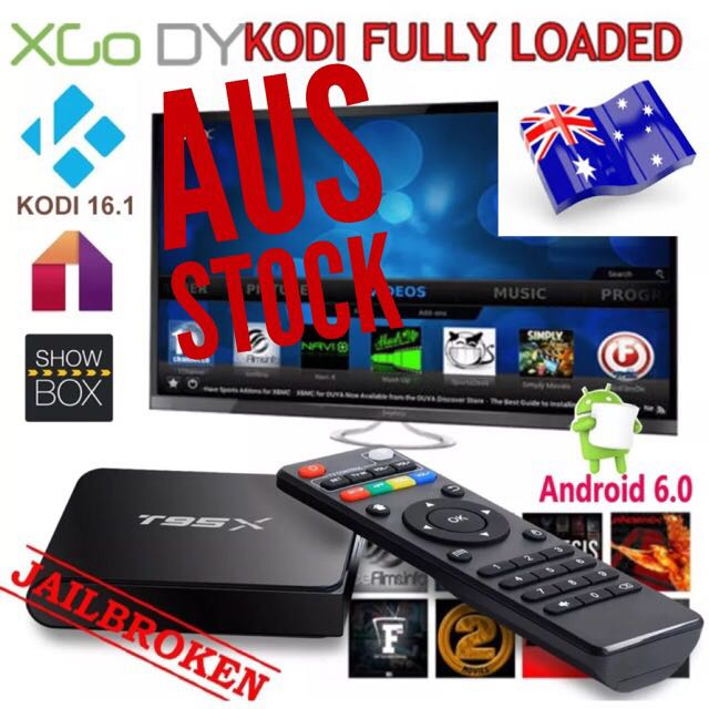 T95X ANDROID 6 TV BOX 1/8GB FULLYLOADED MOVIES TV SPORTS UFC EPL
