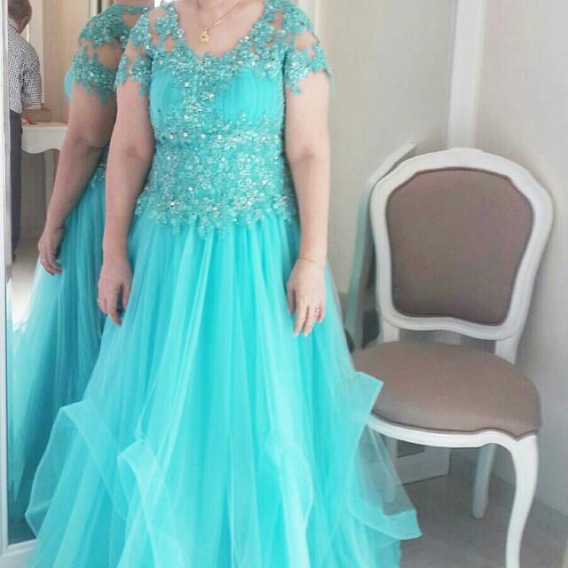 Tiffany Blue Mommy's Dress (FULL SWAROVSKI)