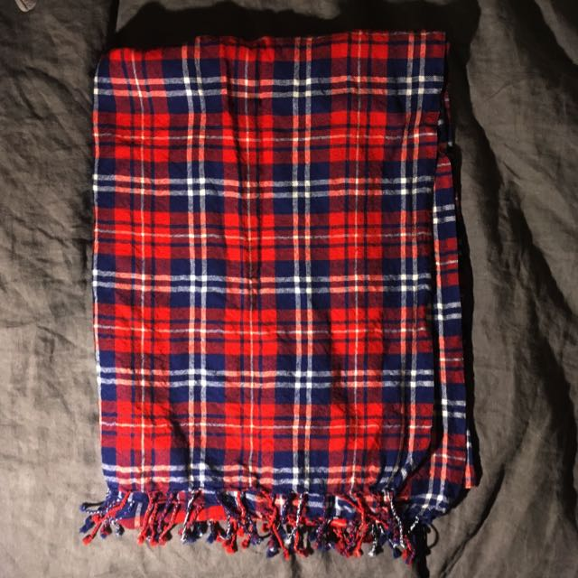 TNA Wool Tartan Blanket Scarf
