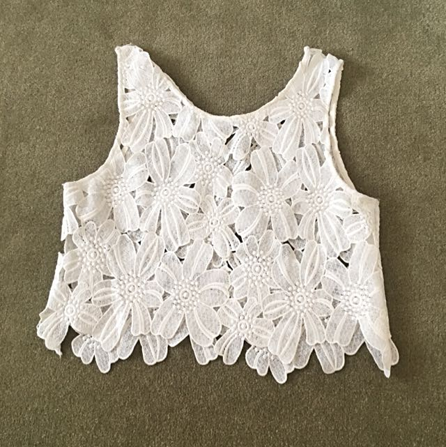 Toby Heart Ginger White Crop Top