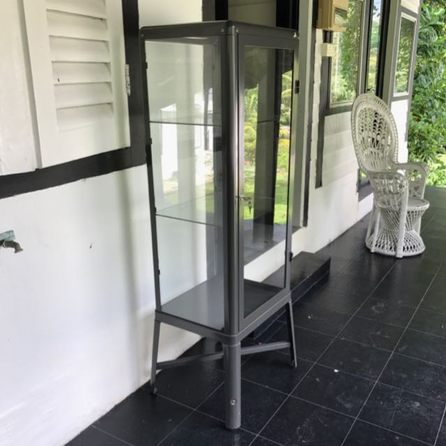 Two Pieces Of ikea vitrine glass cabinet FABRIKÖR