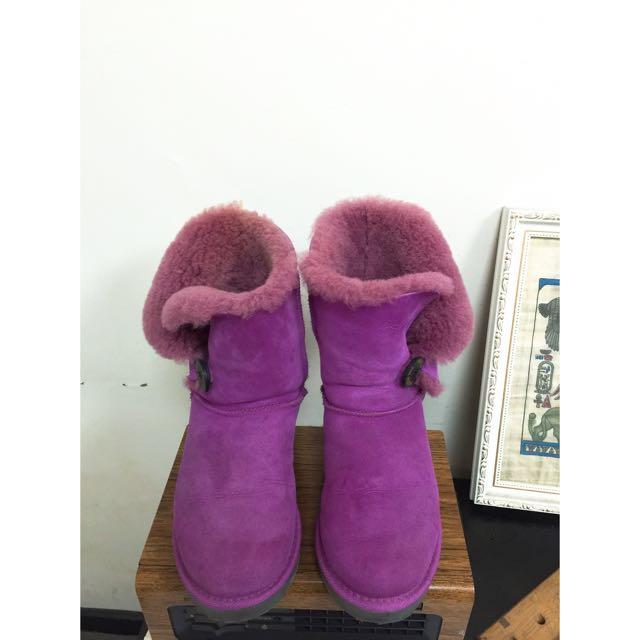 Ugg桃紫色雪靴