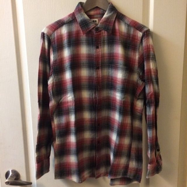 uniqlo 格子襯衫