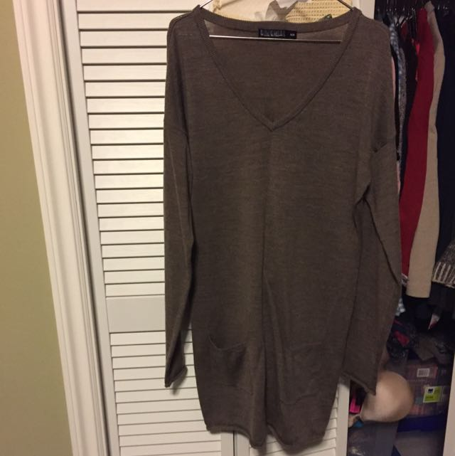 Vneck Sweater Dress
