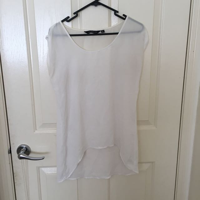 White Glassons Oversized Top