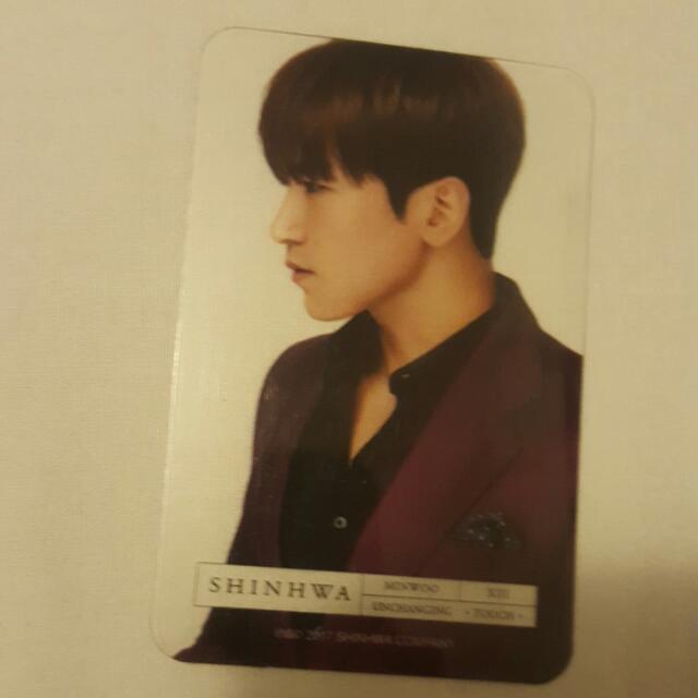 WTT Shinhwa Minwoo Photocard