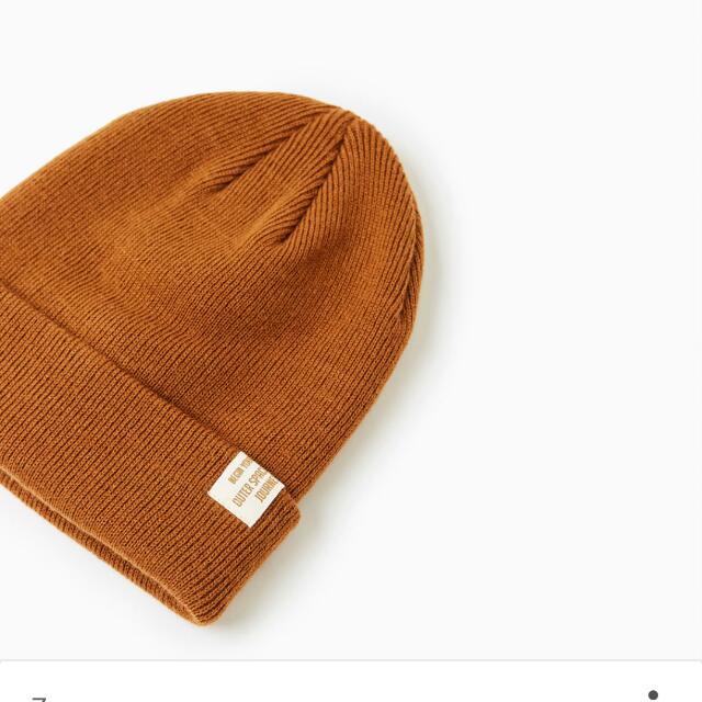 誠心徵#Zara  標籤裝飾捲邊針織毛帽