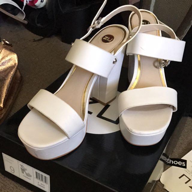ZU White Heels