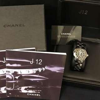 保證正品 Chanel 香奈兒 J12 陶瓷錶