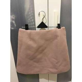 藕 粉 側邊拉鍊 短裙 26腰