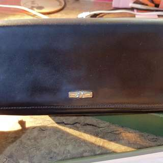 Pre-loved Black Longchamp Cowhide Leather Wallet